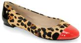 Kate Spade Terry - Leopard Print Toe Cap Ballet Flat
