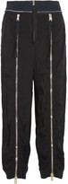 Chloé Zip-embellished Crepe Track Pants - Black