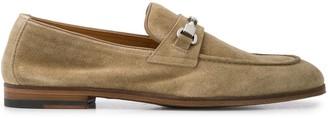 Doucal's Suede Horsebit Loafers