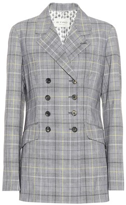 Etro Checked wool and mohair blazer