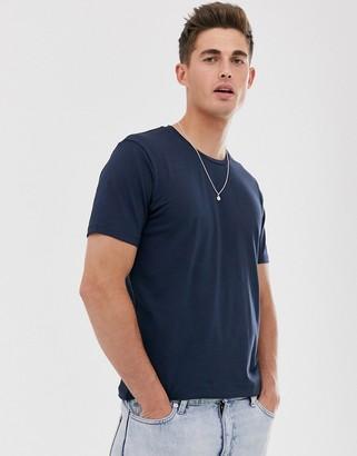 Celio crew neck t-shirt in navy-Blue
