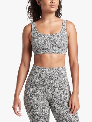 Athleta Exhale Moon Flower Jacquard A-C Cup Bra