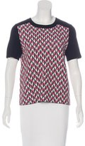 Kate Spade Geometric Short Sleeve Top