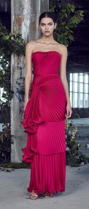 Flor Et. Al Carmela Strapless Pleated Gown