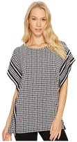 MICHAEL Michael Kors Houndstooth Border Top Women's Clothing