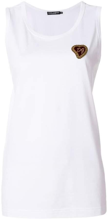 Dolce & Gabbana applique tank top