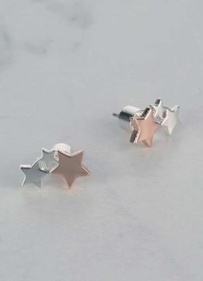 Mint Velvet Trio Star Stud Earrings