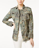 Free People Not Your Bros Camo-Print Military Jacket