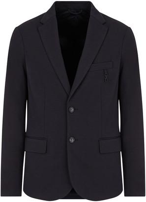 Emporio Armani Men's Solid Jersey Sport Jacket