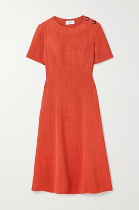 ARIAS Woven Midi Dress - Tomato red
