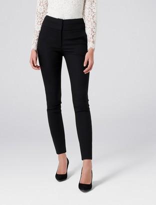 Forever New Georgia High-Waist Full Length Pants - Black - 4