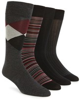 Cole Haan Men's Assorted 4-Pack Crew Socks
