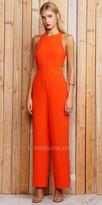 Greylin Jewel Sleeveless Cut Out Jumpsuit