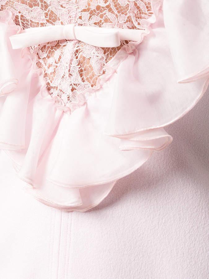 Giambattista Valli lace trim V-neck dress