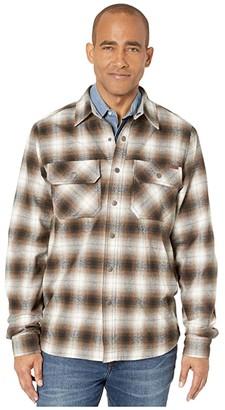 Cinch Plaid Shirt Jacket (Multi) Men's Clothing