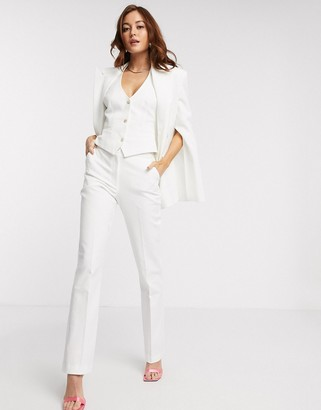 ASOS DESIGN tapered 3 piece suit trousers in texture