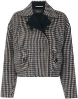 Rochas small check short jacket