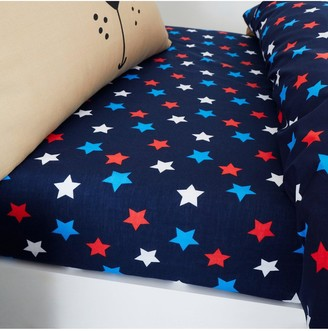 Catherine Lansfield Super Dog Star Single Fitted Sheet