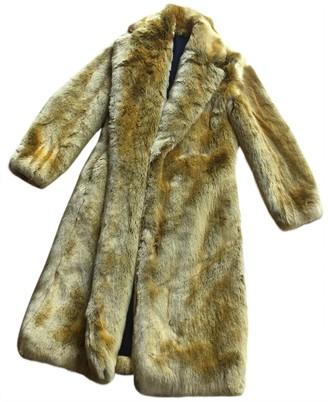 Calvin Klein Yellow Faux fur Coats
