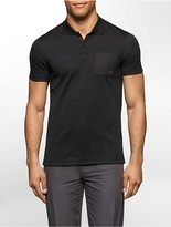 Calvin Klein One Slim Fit Liquid Cotton Mesh Polo Shirt