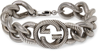 Gucci Burnished Sterling Silver Bracelet