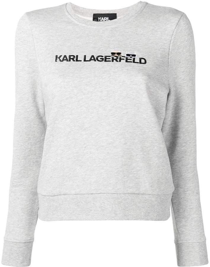 Karl Lagerfeld Paris embroidered logo sweatshirt