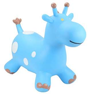 HappyHopperz Inflatable Ride On, Bounce Along Toy - Blue Giraffe