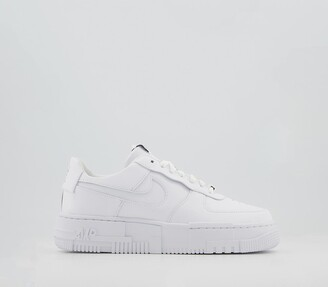 Nike Force 1 Pixel Trainers White White Black Sail