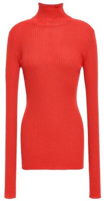 Jil Sander Ribbed Wool And Silk-blend Turtleneck Sweater