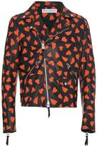 J.W.Anderson Leather Hearts Biker Jacket