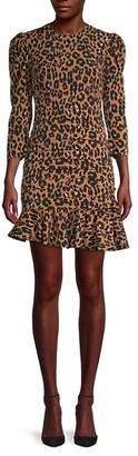 Bardot Ada Leopard-Print Mini Dress