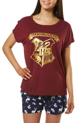 Harry Potter Knit S/S Top with Woven Short PJ Set