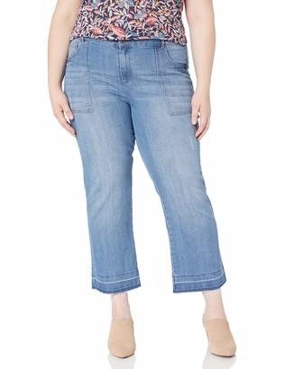 Jones New York Women's Plus Size Hem Cropped Bell Leg W/Patch Pocket