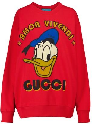Gucci x Disney printed cotton-jersey sweatshirt