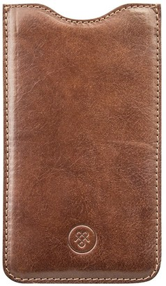 Maxwell Scott Bags Maxwell Scott Handcrafted Italian Leather Phone Sleeve - Dosolo Tan