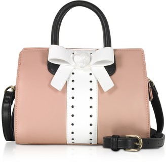 Roccobarocco White, Black and Pink Bow Mini Satchel Bag