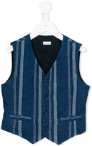 Il Gufo striped waistcoat - kids - Cotton/Linen/Flax - 10 yrs