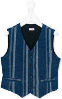 Il Gufo striped waistcoat - kids - Linen/Flax/Cotton - 4 yrs