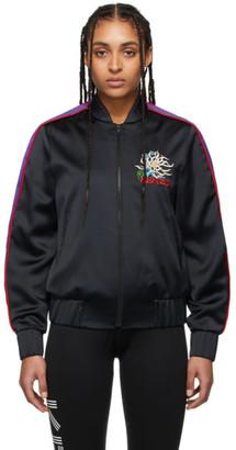 Kenzo Black Satin Teddy Bomber Jacket
