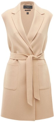 Max Mara Double Wool Belted Knee Length Vest