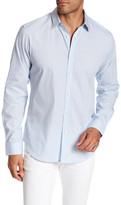 Theory Long Sleeve Plaid Print Regular Fit Woven Shirt