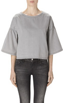 J Brand Diane Short Sleeve Top In Cinereal