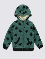 Marks and Spencer Star Print Hooded Top (1-7 Years)