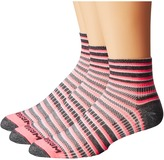 Wrightsock Coolmesh II Quarter Stripes 3 Pack