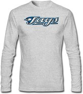 Sarah Men's Toronto Blue Jays Logo Long Sleeve T-shirt XL HeatherGray