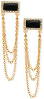GUESS Gold-Tone Pave & Jet Stone Drop Earrings