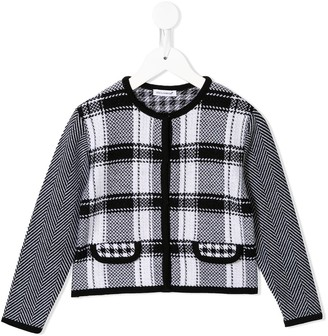 Dolce & Gabbana Knitted Houndstooth Fitted Jacket