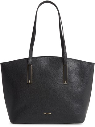 Ted Baker Large Sheriee Curved Leather Shopper & Pouch