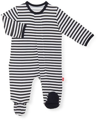 Magnetic Me Baby's Raise The Woof Stripe Footie