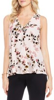Vince Camuto Petite Women's Timeless Bouquet Pleat Front Blouse